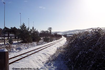 Vale of Rheidol tracks in Snow