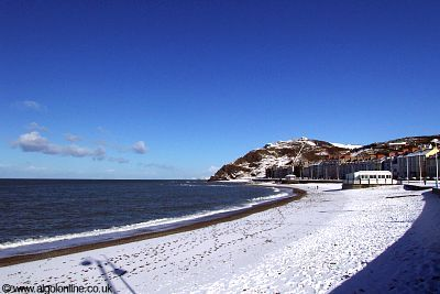 Aberystwyth North Beach in the Snow