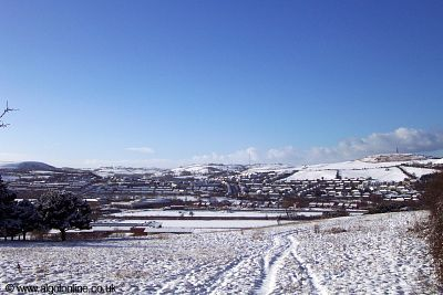 Penparcau and Pen Dinas in the Snow