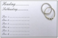 Business card design - Silver Rings