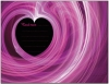 Postcard design - Pink Heart Swirl