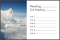Business card design - Clouds