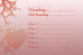 Business card design - Hearts