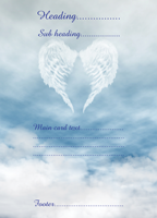Postcard design - Angel Wings